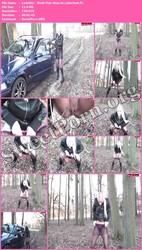 LadyNici LadyNici - Wald-Piss-Stop im Lederlook Thumbnail